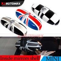 Dla Mini Cooper One S Wewnętrzne Lusterko wsteczne Pokrywa Shell Countryman R55 R56 R57 R60 R61 Union Jack Akcesoria