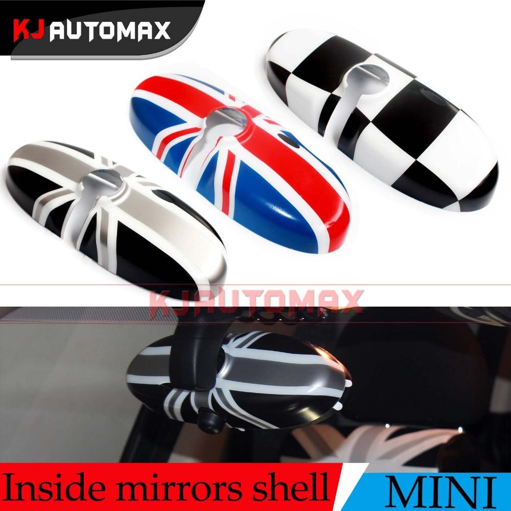 Für Mini Cooper One S Autoinnenspiegel Abdeckkappe Shell Countryman R55 R56 R57 R60 R61 Union Jack Zubehör