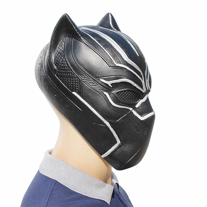 Черные маски Пантеры Капитан Америка Civil War роль латексная маска для косплея Шлем Хэллоуин реалистичные взрослые вечерние реквизит в наличии