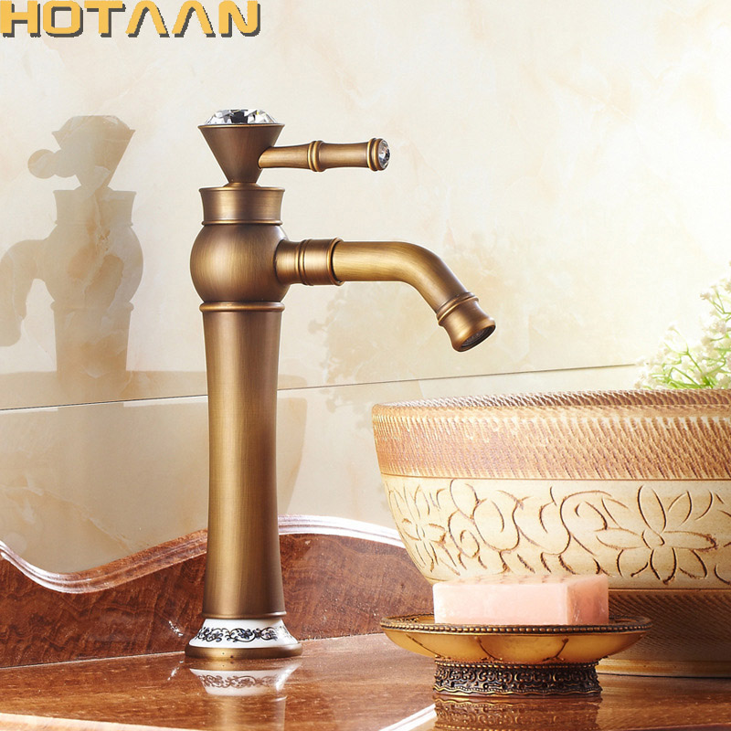 Free shipping Contemporary Concise Bathroom Faucet Antique bronze finish Brass Basin Sink Faucet Single Handle water taps YT5089 contemporary concise bathroom faucet antique bronze finish brass basin sink faucet single handle water taps dona2118