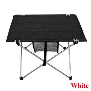 Image 3 - Mesa de acampamento ao ar livre mesa de piquenique de liga de alumínio à prova dwaterproof água ultra leve durável dobrável mesa para piquenique & acampamento