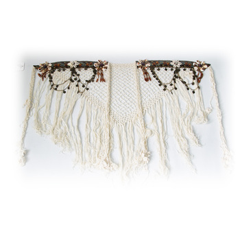 Belly Dance Tribal Hip Scarf White Tassel  Belt for Tribal Style Handmade Dance Accessories tribal print tassel dress