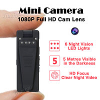 5M Infrared Night Vision Webcam 1080P Mini Camera HD Camcorder With Motion Sensor Video Voice Audio