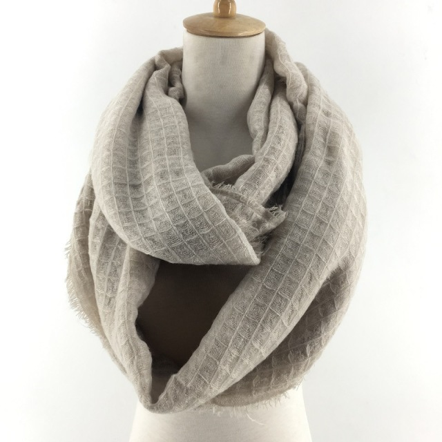 2017 Winter Solid Color Plain Pattern Crocheted Wool Cowl Women