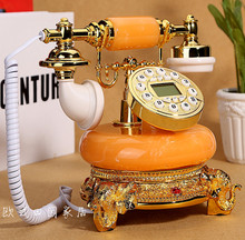New high-end European antique telephone wireless card retro old villa home landline cable