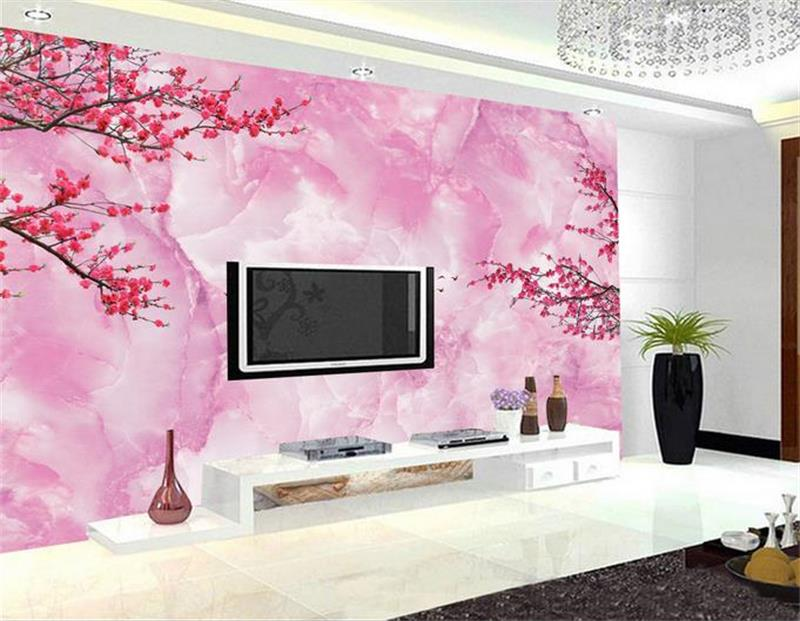 3d room wallpaper custom mural non-woven photo Romantic pink plum painting picture 3d wall murals wallpaper for walls 3 d custom photo 3d ceiling murals wall paper blue sky rose flower dove room decor painting 3d wall murals wallpaper for walls 3 d