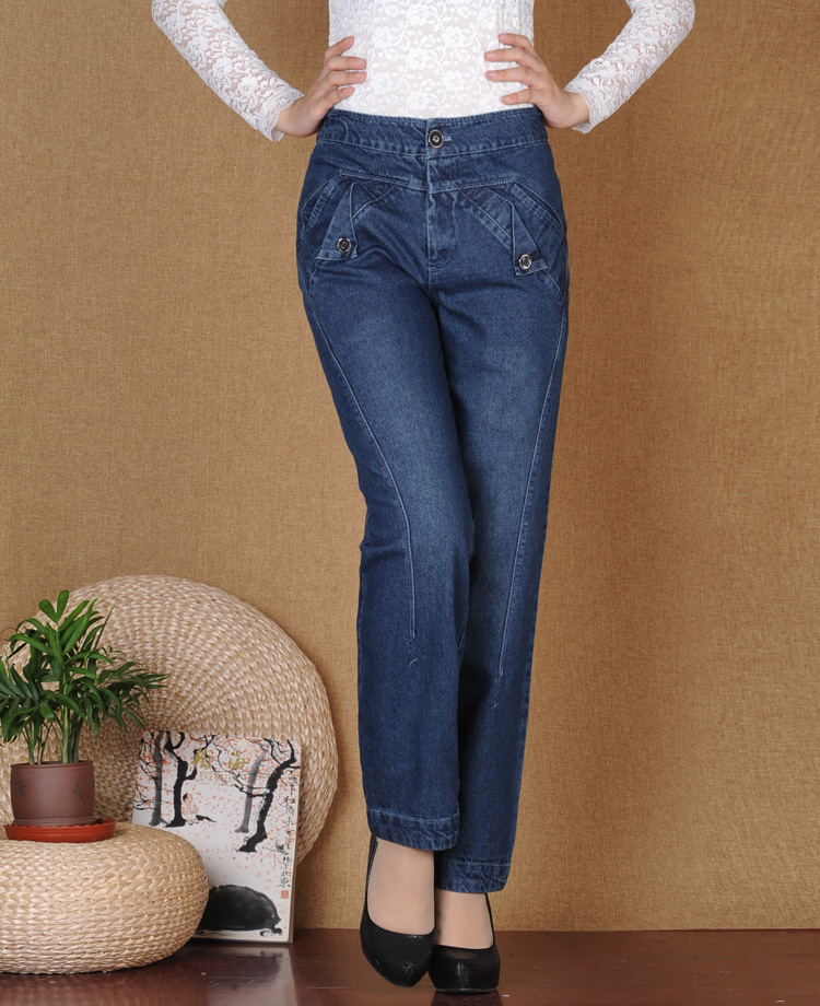 Cotton denim jeans casual harem pants for women high waist plus size spring autumn bloomer pants new fashion trousers ayl0702 кольца колечки кольцо ирэна им хризопраза