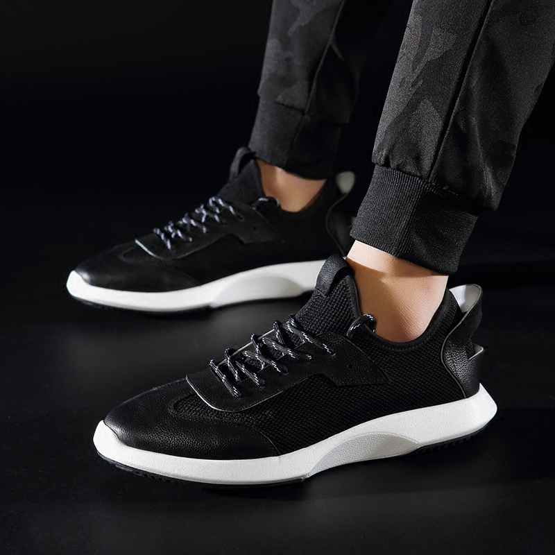 mens shoes spring and autumn summer Genuine leather casual shoes men all-match cowhide breathable breathable sneaker shoes male