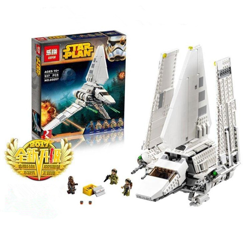 ФОТО IN-STOCK LEPIN 05057 977PCS Star War Series Imperial Shuttle Tydirium Building Blocks Bricks Assembled Toys Compatible75094 Gift