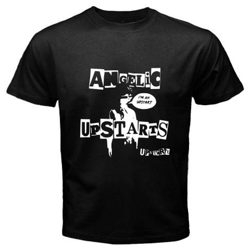 New Angelic Upstarts Metal Punk Rock Band Icon Men/'s Black T-Shirt Size S-3XL