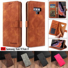 Coque For Galaxy Note 9 Case Vintage Leather Wallet Flip Phone Cases For Samsung Galaxy Note 9 Back Cover for Samsung Note 8 цена и фото
