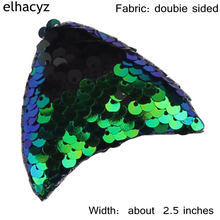 Retail 1 Pair Chic European Gilr Flip Sequins Cat Ears Trendy Kids DIY Hair Accessories Children Headwear For Girl Hairband