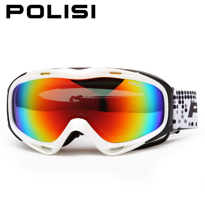 цена на POLISI Winter Ski Snow Goggles Snowboard Skate Eyewear Polarized Anti-Fog Lens Outdoor Snowmobile Mountaineering Skiing Glasses