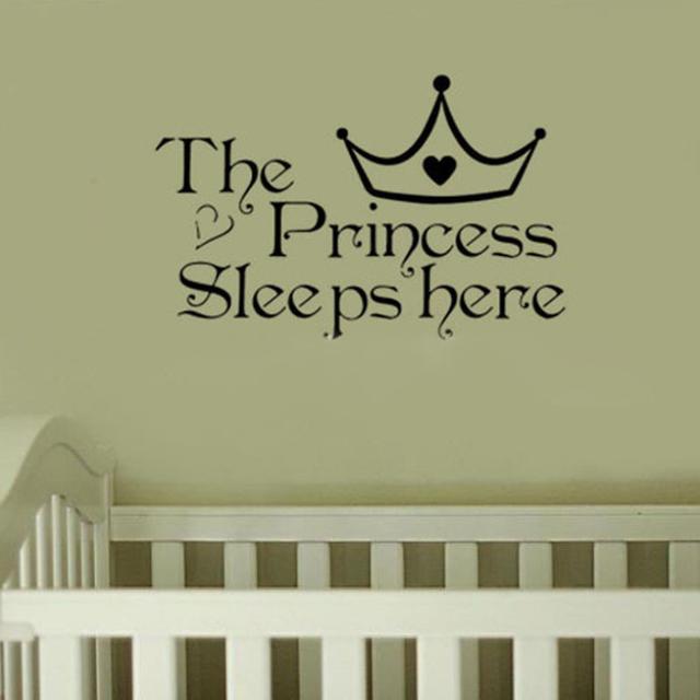 The Princess Sleeps Here Crown Wall Sticker