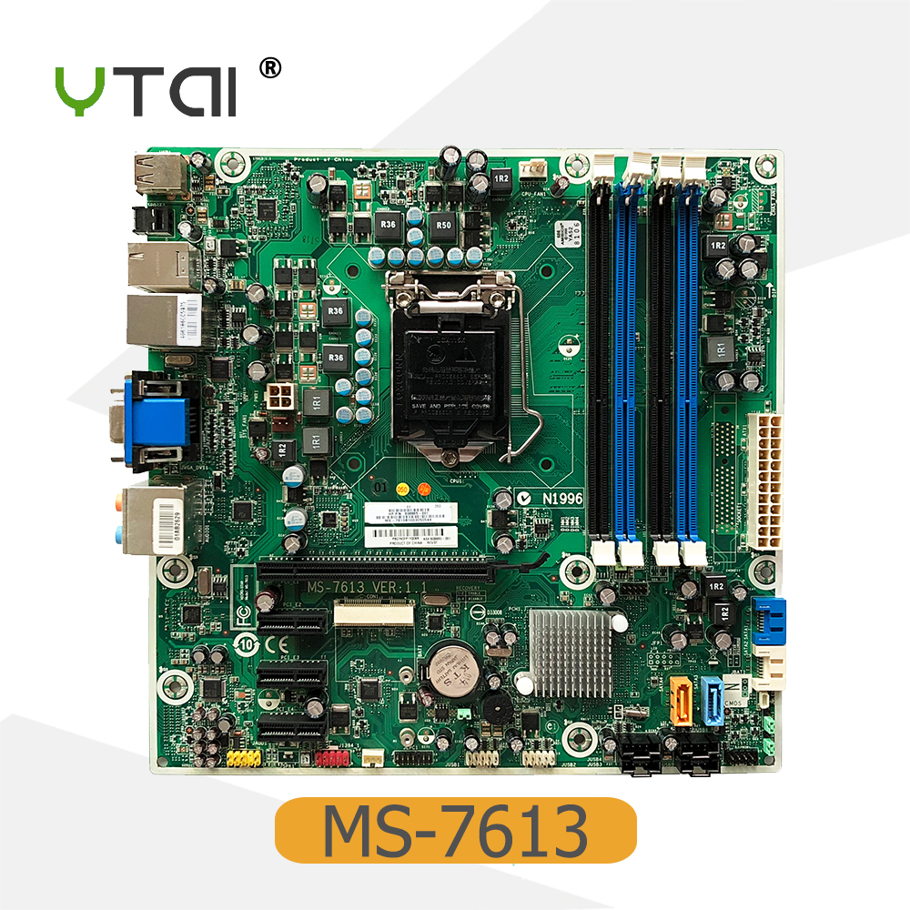 YTAI 608885-001 for HP MS-7613 Desktop Motherboard LGA1156 HM57 4*DDR3 608885-001 mainboard Fully Tested цена