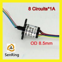8 Wires 1A Of Mini Capsule Slip Ring Flange With OD 8 5mm Used For Robots