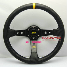 Free shipping car modification steering wheel / 350mm carbon pattern racing wheel / steering wheel carbon fiber PVC