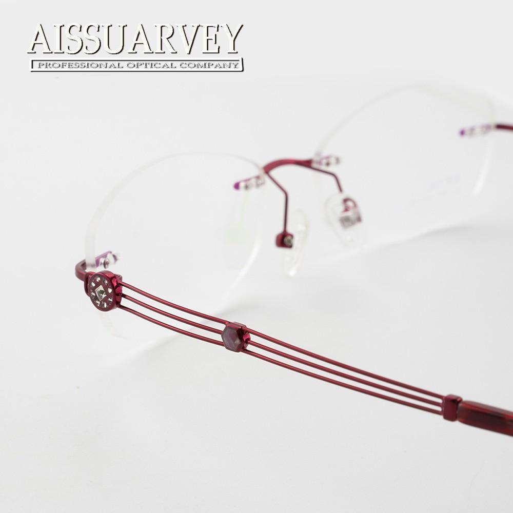 ad32bfa67d6 Flower Rimless Eyeglasses Frames Women Optical Glasses Prescription Brand  Designer Top Quality Eyewear Hollow Rhinestone Elegant-in Eyewear Frames  from ...