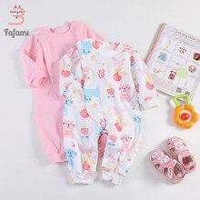 c55604f8605091 Pajacyki Odzież dla Niemowląt Noworodka Bawełna Zima dziewczynka romper  Ubrania Dla Dzieci Jesień niemowląt różowy kot