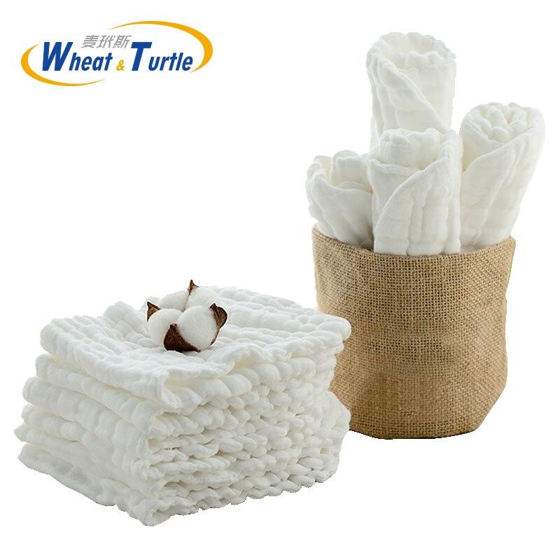 Mère enfants Diapering toilette formation couches couches couches bébé soin coton blanc eau absorber couches en tissu pour bébé infantile
