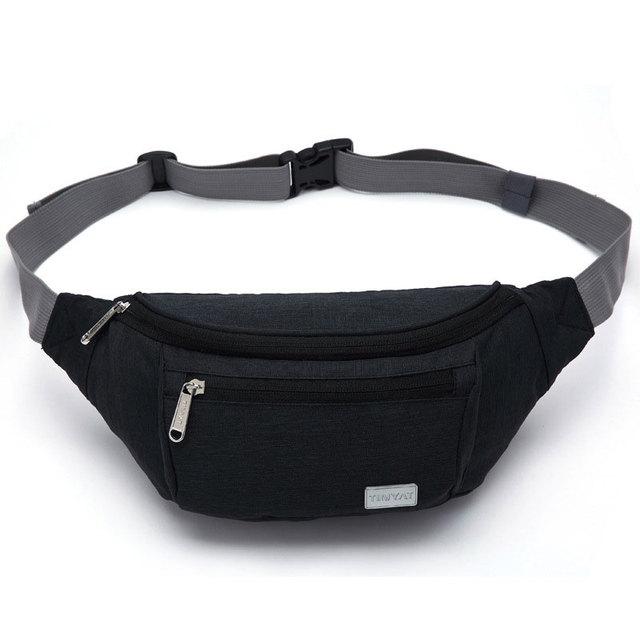 Bolso de Nylon Impermeable Dinero y Teléfono Pounch Cintura ajustable Cinturón de Cintura Bolsa de Gran Capacidad de Estilo de Los Hombres de Bolso de La Cintura