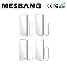 Hot Mesbang 4 pezzi/lotto sensori di porta senza fili 433 MHZ per la connessione wifi GSM sistema di allarme GB08 spedizione gratuita