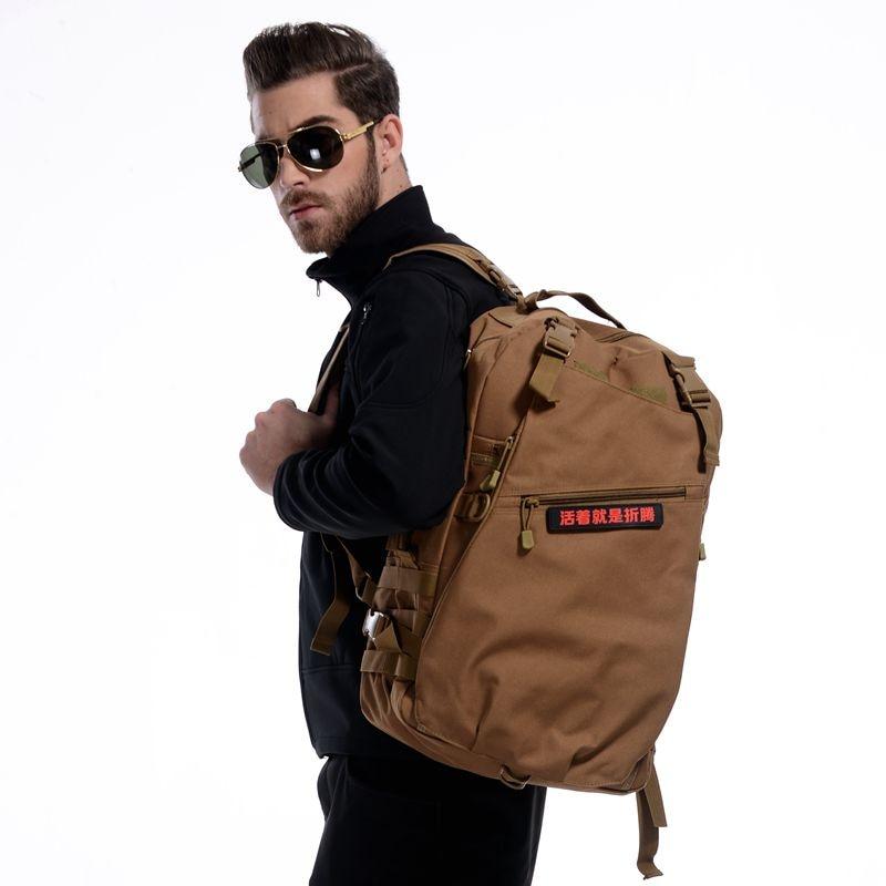 Double shoulder computer bag tactical outdoor hiking backpack bag 3d tactical outdoor double shoulder backpack knapsack bag black