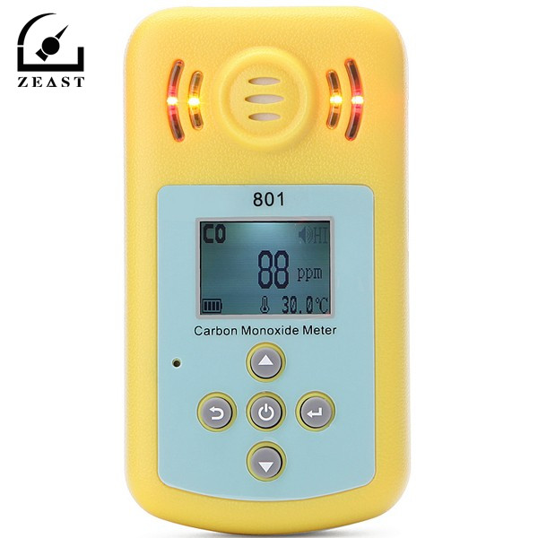 KXL-801 LCD CO Gas Carbon Monoxide Measurement Alarm Detector Home Security Sound-light Alarm Gas Analyzer Measurement carbon monoxide gas co meter detector with lcd display and sound light alarm analyzer measurement portable