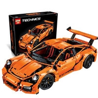 LEPIN 20001 Technic Series Race Car Model Compatible Legoed 42056 Building Kits Blocks Bricks Boys Gifts