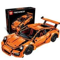 LEPIN 20001 Technic Series Race Car Model Compatible Legoed 42056 Building Kits Blocks Bricks Boys Gifts
