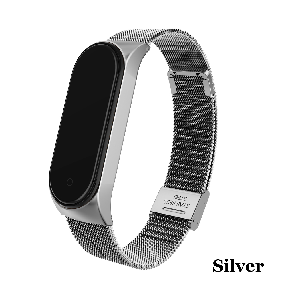 Image 3 - Metal Strap bracelet for Xiaomi Mi Band 4/3 Strap for Xiaomi Mi Band 4/3 Strap Stainless Steel MiBand 4/3 Wrist Band Belt-in Smart Accessories from Consumer Electronics