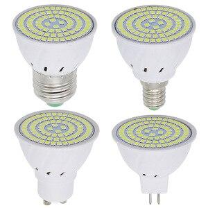 Image 5 - 1 قطعة 6W 9W 12W E27 / E14 / GU10 / MR16 220V LED مصباح الضوء 48LED 60LED 80LED 2835 SMD ضوء الثريا استبدال مصباح هالوجين