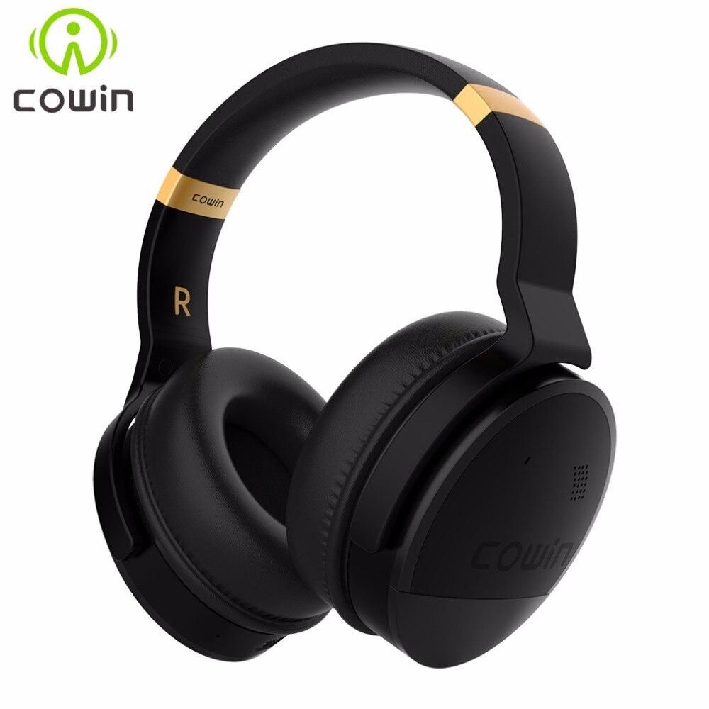 COWIN E8 Active Noise Cancelling Fones De Ouvido Bluetooth com Mic Graves Profundos Sem Fio Hi-Fi Fones De Ouvido Sobre A Orelha de Som Estéreo de fone de Ouvido
