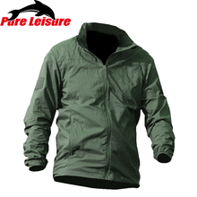 PureLeisure Outdoor Tactical Sun Protection Clothing Ultra-thin Fishing Clothing Jackets Windbreaker Men Fishing Shirt S-2XL