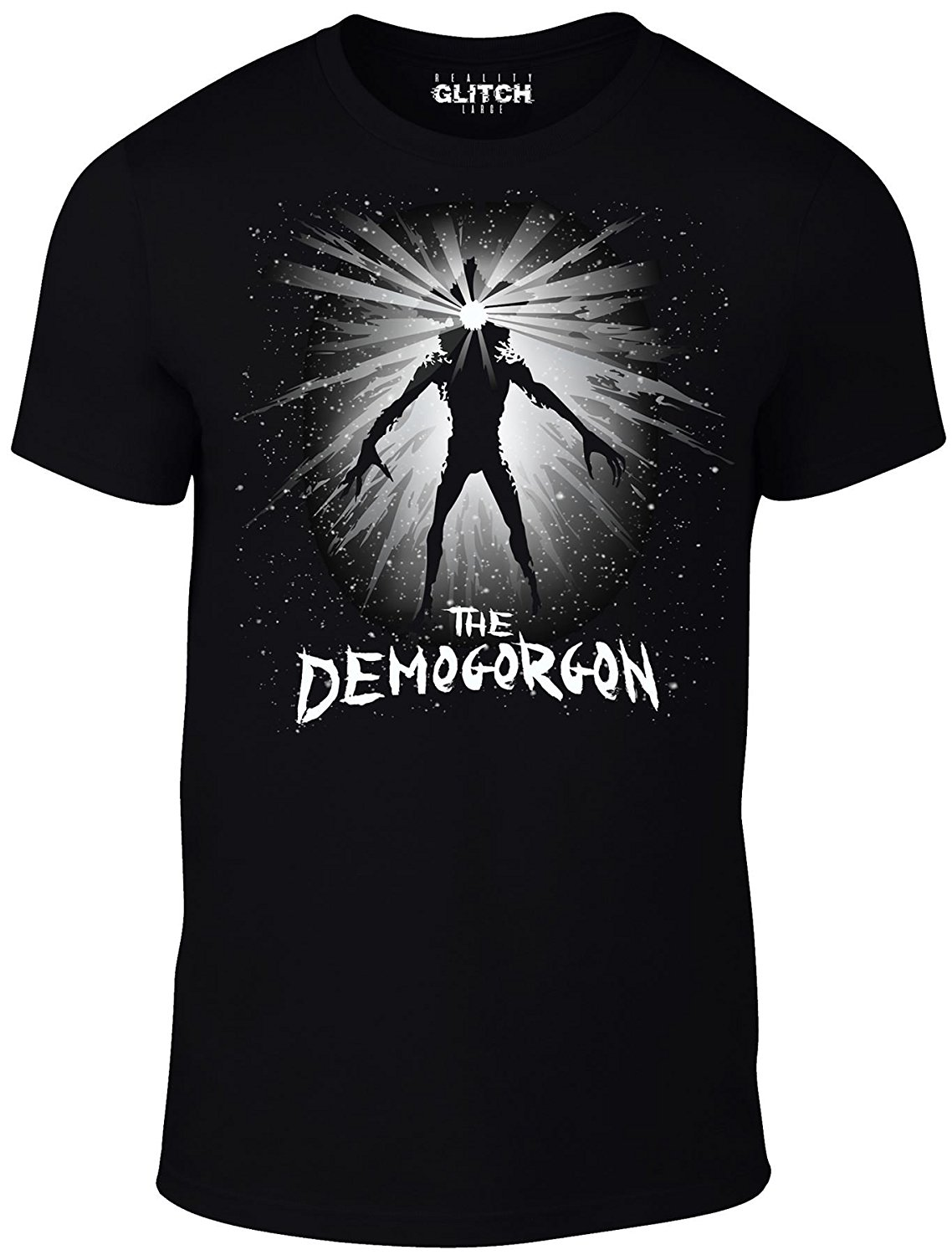 Reality Glitch Demogorgon Men's T-Shirt Casual Short Sleeve for Men Clothing Summer T Shirt Hipster O-Neck Causal Cool