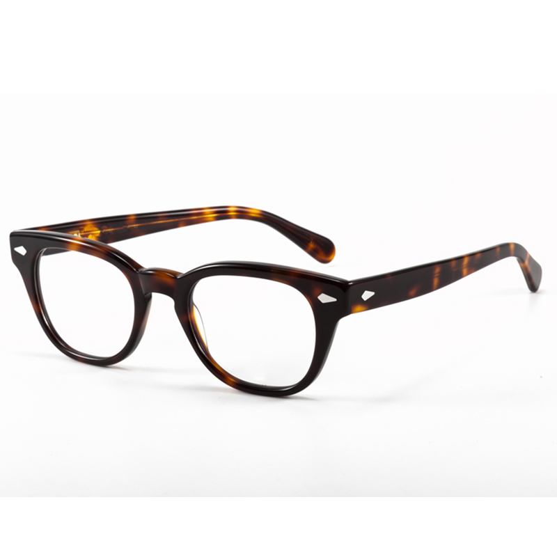 Round Handmade Acetate Frame Women Johnny Depp Glasses Men Brand Designer Computer Goggles Optical Spectacle Demi Myopia