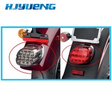 Fatboy FLSTF Night Train FXSTB Sportster Road King Electra Glide Led Brake Tail Light Motorbike Rear Lamp Harley Dyna Softail driving amber turn signal spotlight bar for harley fatboy dyna electra road street glide road king softail flht night train flhx