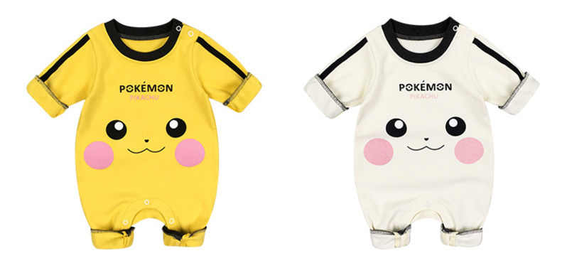 bc4740b09f78 ... Baby Girls Boys Romper Newborn Baby Clothing Pokemon Kids Pikachu Costumes  Jumpsuits With Cute Hats Infant ...