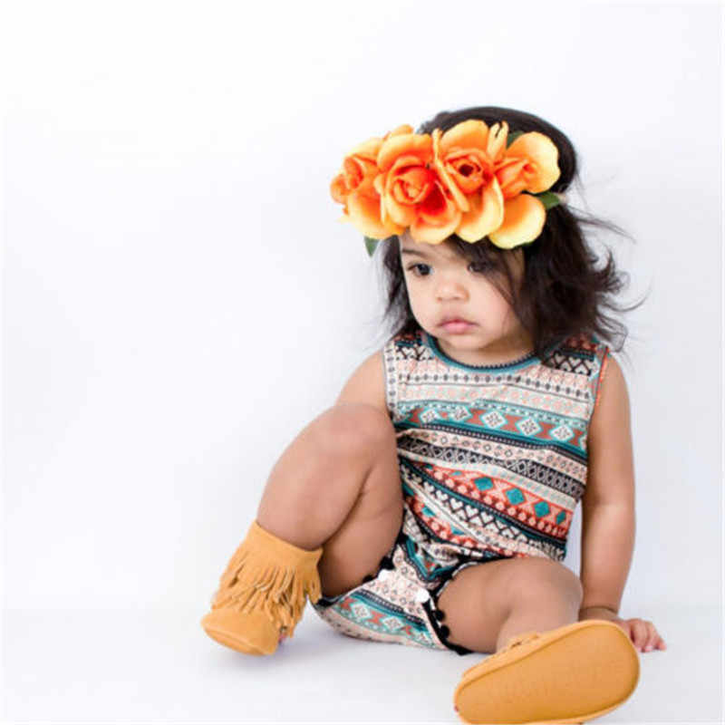 0f151c43ed5c ... New Born Baby Girls Boys Floral Rompers Sleeveless Jumpsuit And Headband  2PCS Classic Summer Clothing Wear ...