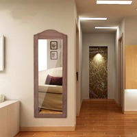 Giantex Wall Hang Mounted Mirrored Jewelry Cabinet Armoire Storage Organizer Home Furniture HW56230
