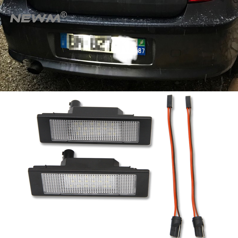 Error Free White LED License Plate Lights For BMW E81 E87 E87N Mini R55 Astra H GTC License Number Plate Lamps Car Tail Light fsylx error free white led number license plate lights for bmw e53 x5 12v led number license plate lights for bmw e39 z8 e52