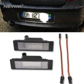 Kesalahan Gratis Putih Lampu Plat Nomor LED untuk BMW E81 E87 E87N Mini R55 Astra H GTC Plat Nomor lampu Mobil Ekor Lampu