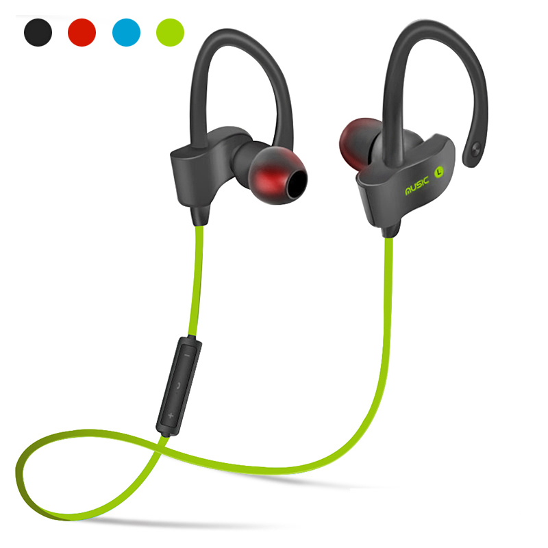 56S Sports Ear Hook Headphone Wireless Bluetooth Earphone Stereo Earbuds Headset Bass Earphones With Mic For iPhone 6 Samsung wireless retractable in ear stereo bluetooth headset earphone headphone earbuds for iphone for samsung bluetooth stereo tw