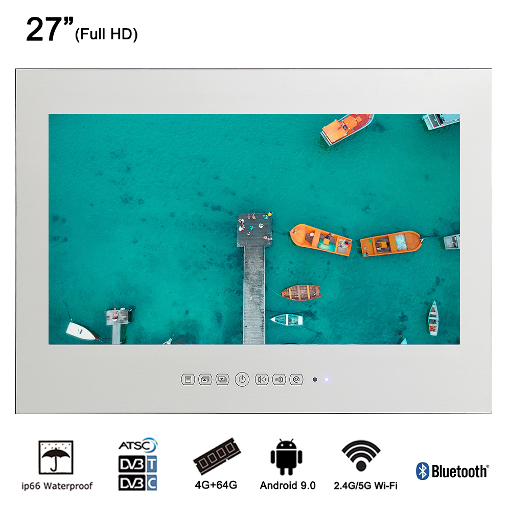 Souria Brand New 27 Inch Ip66 Bathroom Smart Tv Android