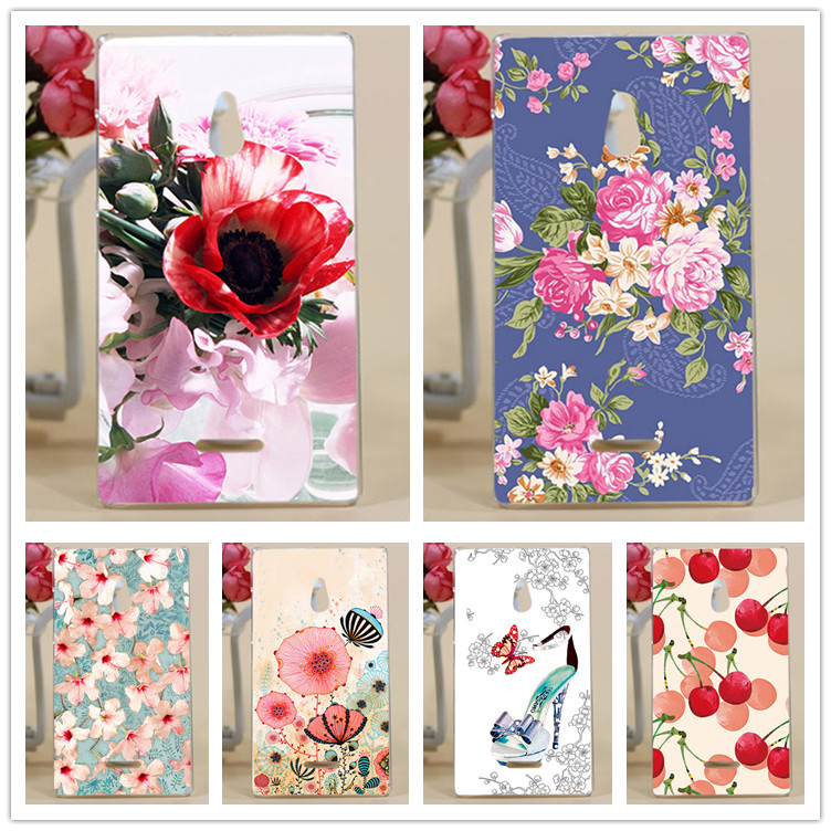 Beautiful Flowers Printing Case For Nokia Lumia XL RM-1030 RM-1042 Cover Bright Colored Design For Microsoft NOKIA XL Case Cover