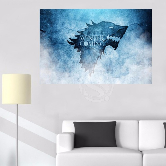 Game of Thrones Stark Canvas Painting Wall Silk Poster cloth print DIY Fabric Poster L#54