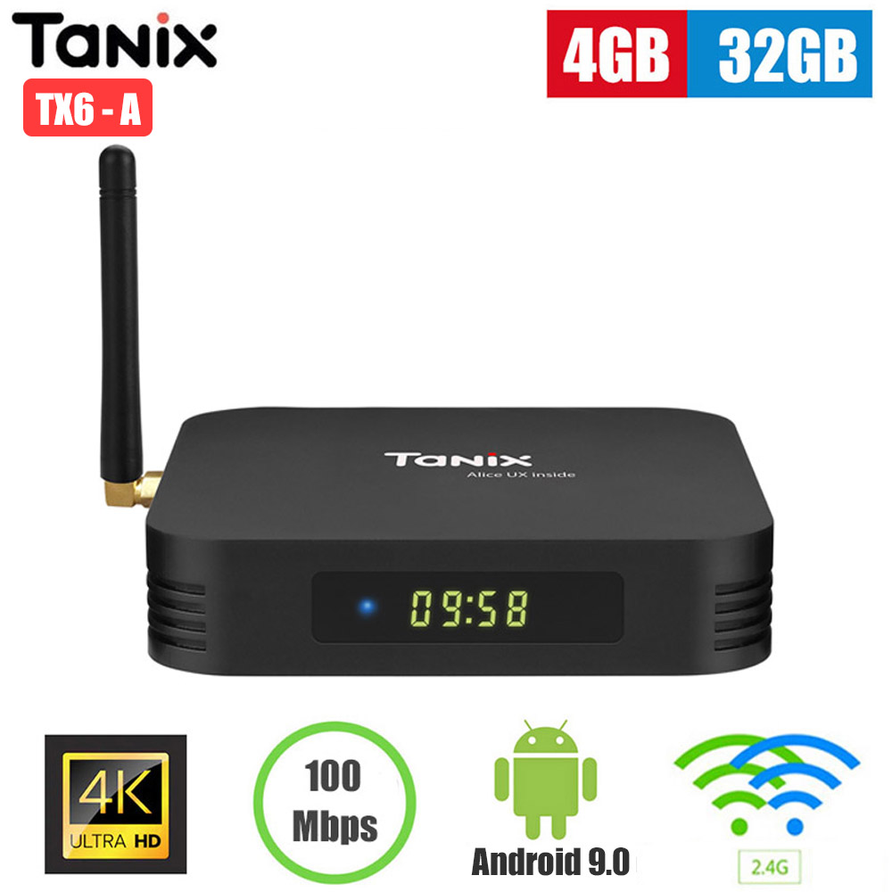 Worldwide delivery tanix tx6 box allwinner h6 in Adapter Of