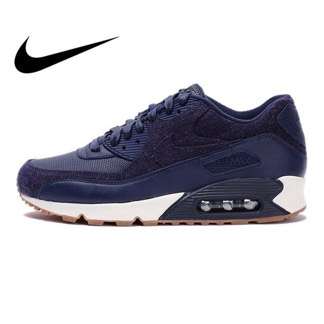 Zapatillas para correr originales oficiales NIKE AIR MAX 90 PREMIUM para hombre zapatillas deportivas transpirables al aire libre Jogging cómodo duradero