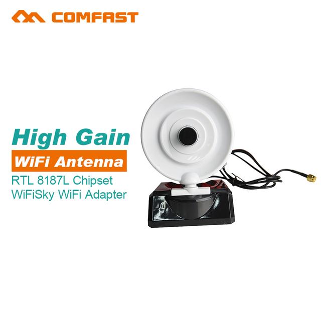 Signal Rei Wifi céu grátis interent Antena WI-FI 150Mbs Sem Fio WIFI USB Adapter 802.11n/g/b RTL 8187L de longo alcance da rede wi-fi