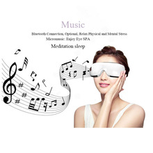 Eye Massager Anti Migraine Portable Bluetooth Eye Massage Remove Dark Circle Protector Eye Protector Electric Vibration Fatigue electric eye massager remove eye pouch